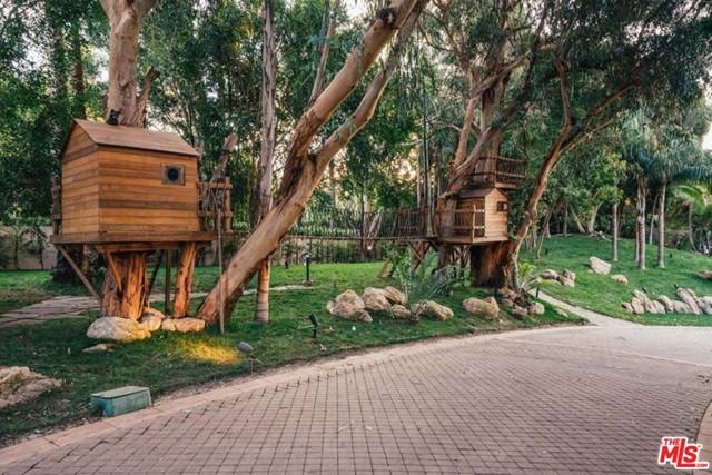 Backyard in a $115,000,000 Malibu home for sale