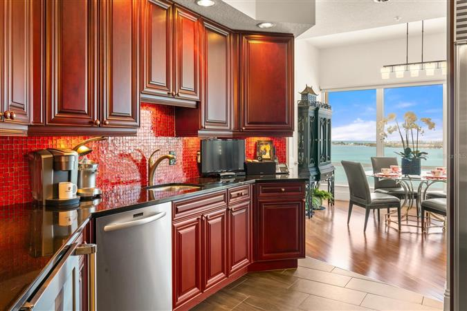 Kitchen in a $5,950,000 Sarasota home for sale