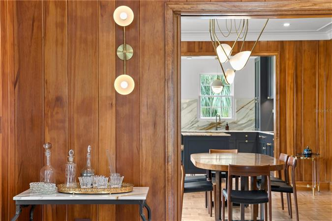 Dining room in a $2,995,000 St. Petersburg home for sale