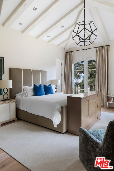 Bedroom in a $85,000,000 Beverly Hills home for sale