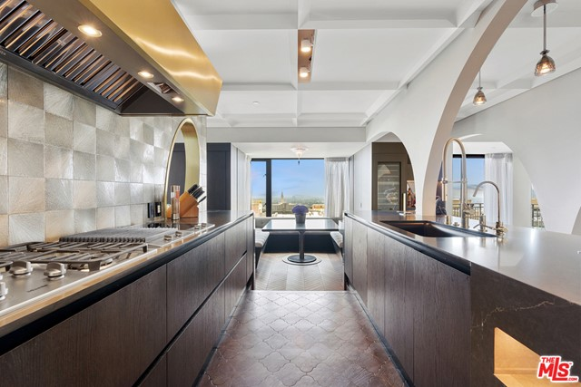 Kitchen in a $4,995,000 Los Angeles home for sale