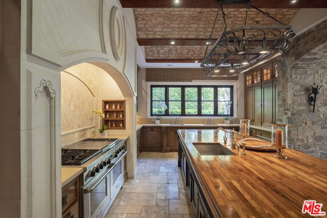 Kitchen in a $250,000 per month Beverly Hills home for rent