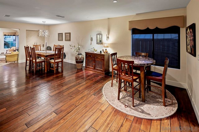 Dining room in a $3,300,000 San Diego home for sale