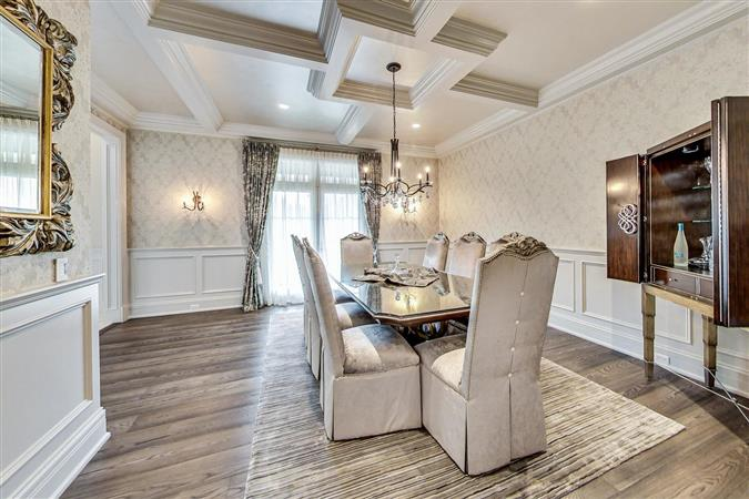 Dining room in a $7,295,000 Burr Ridge home for sale