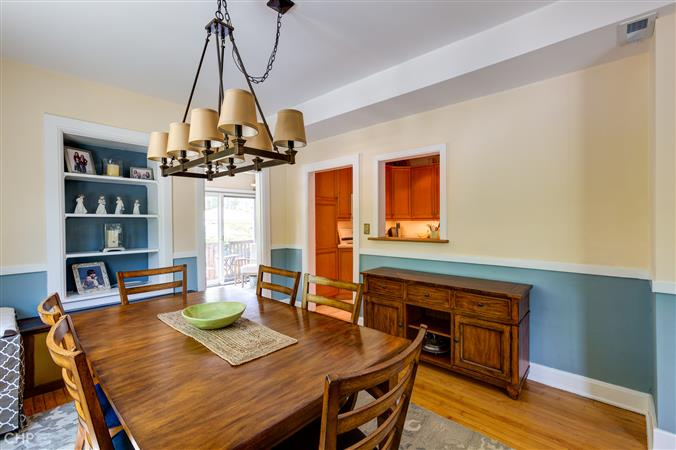 Dining room in a $599,000 Evanston home for sale