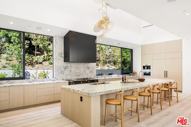 Kitchen in a $25,000,000 Los Angeles home for sale