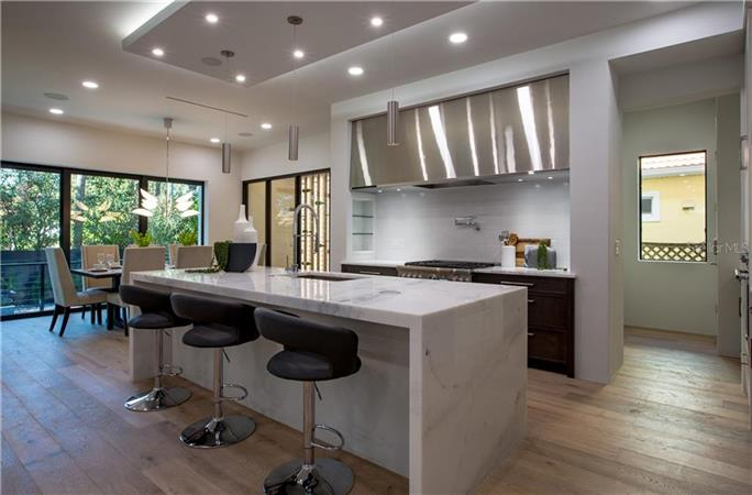 Kitchen in a $2,990,000 TAMPA home for sale