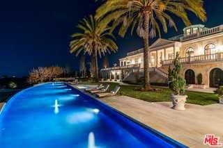 Pool in a $65,000,000 Summerland home for sale