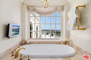 Bathroom in a $65,000,000 Summerland home for sale