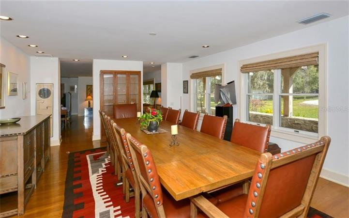 Dining room in a $6,900,000 SARASOTA home for sale