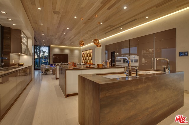 Kitchen in a $49,995,000 Malibu home for sale