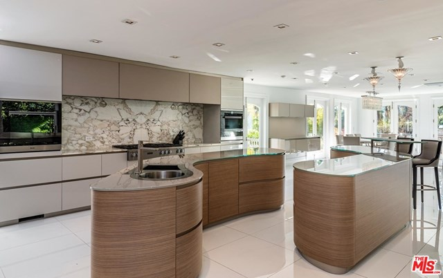 Kitchen in a $46,000,000 Los Angeles home for sale