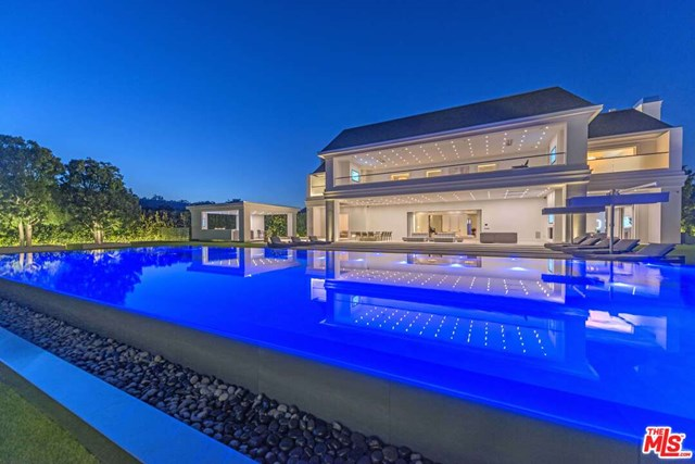 Pool in a $85,000,000 Beverly Hills home for sale
