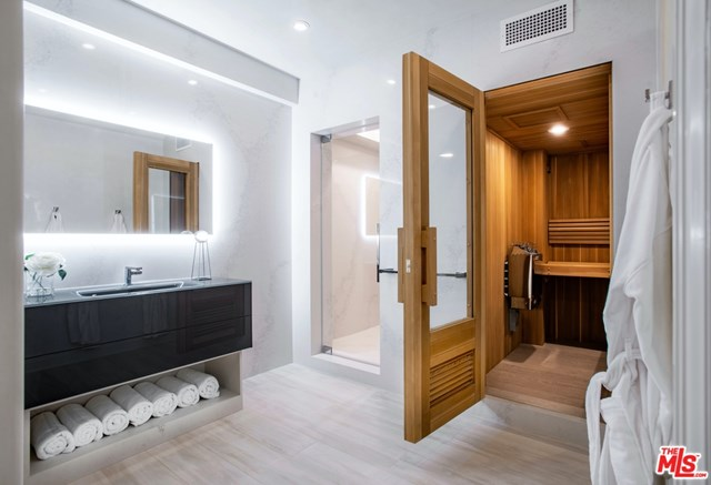 Bathroom in a $85,000,000 Beverly Hills home for sale